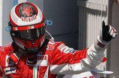 <p>Il pilota finlandese della Ferarri, Kimi Raikkonen. REUTERS/Regis Duvignau (FRANCE)</p>