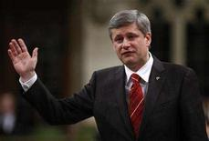 <p>Prime Minister Stephen Harper speaks during Question Period in the House of Commons on Parliament Hill in Ottawa June 18, 2008. REUTERS/Chris Wattie (</p>