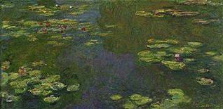 """<p>Claude Monet's """"Le Bassin aux Nympheas"""" is seen in an undated handout photo. REUTERS/Christie's/Handout</p>"""