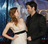 """<p>Amy Adams (L) and Patrick Dempsey, stars of the film """"Enchanted"""", pose at the film's premiere in Hollywood, California November 17, 2007. REUTERS/Fred Prouser</p>"""