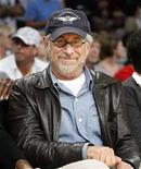 <p>Director Steven Spielberg watches the Los Angeles Lakers play the Boston Celtics during Game 3 of the NBA Finals basketball championship in Los Angeles in this June 10, 2008 file photo. REUTERS/Lucy Nicholson</p>