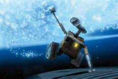 """<p>The animated character Wall-E in a scene from Pixar's newest blue-chip animated movie """"Wall-E"""". The film features dystopian landscapes, social commentary and a lack of conventional dialogue that are rare under the Walt Disney banner, but it sticks to Pixar's basic themes of love, loyalty and friendship. REUTERS/Disney-Pixar/Handout</p>"""