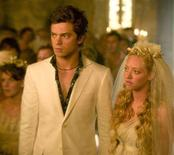 """<p>Dominic Cooper and Amanda Seyfried in a scene from """"Mamma Mia!"""". REUTERS/Universal Pictures/Handout</p>"""
