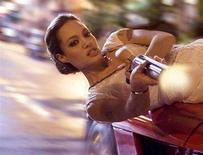 """<p>Angelina Jolie in a scene from """"Wanted"""" in an image courtesy of Universal Pictures. REUTERS/Handout</p>"""
