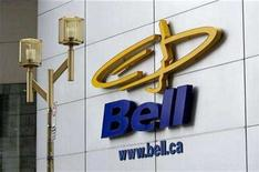 <p>A sign is seen outside the offices of BCE Inc., Canada's largest telecoms group, in Montreal, May 21, 2008. REUTERS/Shaun Best</p>