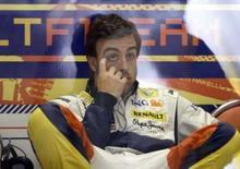 <p>Alonso vai manter suspense sobre futuro até setembro. O bicampeão mundial de Fórmula 1 Fernando Alonso disse que espera decidir seu futuro na Fórmula 1 após o Grande Prêmio da Itália, em setembro. 4 de julho. Photo by Thomas Bohlen</p>