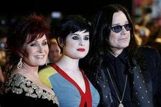 <p>Sharon (L), Kelly (C) and Ozzy Osbourne arrive at the Brit Awards at Earls Court in London February 20, 2008. REUTERS/Luke MacGregor</p>