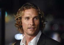 """<p>Matthew McConaughey attends the premiere of """"We are Marshall"""" at the Grauman's Chinese Theater in Hollywood December 14, 2006. McConaughey's Brazilian girlfriend has given birth to a boy, People magazine reported on its Web site on Tuesday. REUTERS/Phil McCarten</p>"""