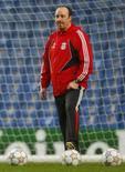 <p>Técnico do Liverpool descarta Villa; mas Robbie Keane é alvo. O técnico do Liverpool, Rafael Benítez em imagem de arquivo. Benitez descartou a possibilidade de tentar a contratação do atacante espanhol do Valencia David Villa. 29 de abril. Photo by Eddie Keogh</p>