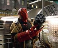 "<p>Actor Ron Perlman is shown in this undated publicity photo released to Reuters April 23, 2008 in a scene from Universal Studios upcoming film ""Hellboy II: The Golden Army"". REUTERS/Egon Endrenyi/Universal Studios/Handout</p>"