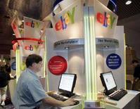 <p>Chiosco eBay al Consumer Electronics Show di Las Vegas, Nevada, nel gennaio del 2006. REUTERS/Steve Marcus</p>