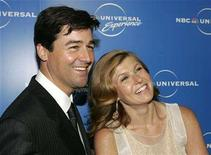 """<p>Actors Kyle Chandler (L) and Connie Britton from NBC's drama series """"Friday Night Lights"""" arrives at the NBC Universal Experience as part of upfront week in New York on May 12, 2008. REUTERS/Shannon Stapleton</p>"""