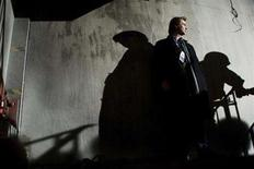 """<p>Director Christopher Nolan on the set of the action drama """"The Dark Knight."""" REUTERS/Warner Bros./Handout</p>"""