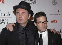 "<p>Cast members Julian McMahon (L) and Dylan Walsh attend the season five premiere screening of the FX series ""nip/tuck"" held at the Paramount Theatre in Hollywood October 20, 2007. REUTERS/Phil McCarten</p>"