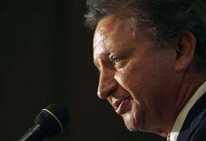 <p>Biovail company founder and majority shareholder Eugene Melnyk speaks at a news conference in Toronto, June 25, 2008. REUTERS/Mark Blinch</p>