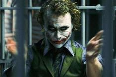 "<p>Heath Ledger is shown in a scene in his role as The Joker in ""The Dark Knight"" in this undated publicity photo released to Reuters July 16, 2008. REUTERS/Warner Bros Studio/Handout</p>"
