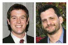 """<p>Film experts Ben Lyons (L) and Ben Mankiewicz are shown in this combination photo of publicity images released to Reuters July 22, 2008. The Walt Disney Company named the two men on Tuesday the new hosts to replace Roger Ebert and Richard Roeper on the popular movie-review show """"At the Movies,"""" in the wake of the influential critics' departure from the program. REUTERS/The Walt Disney Company/Handout</p>"""