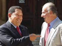 <p>O presidente da Venezuela, Hugo Chávez, e o rei espanhol, Juan Carlos, se encontram na Espanha pela primeira depois da discussão do 'Por que não se cala?', 25 de julho de 2008. Photo by Dani Cardona</p>