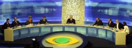 <p>Debate entre candidatos a prefeito de São Paulo no canal de TV Band, na noite de quinta-feira, 31 de julho. Quantidade de candidatos e cautela tornaram a discussão morna. Photo by $Byline$</p>