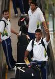 <p>O time brasileiro de handebol ao chegar a Pequim  REUTERS. Photo by Carlos Barria</p>