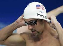 <p>O nadador Michael Phelps, dos EUA, durante treino para as Olimpíadas de Pequim REUTERS. Photo by Sergio Moraes</p>