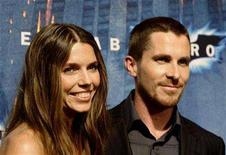 """<p>British actor Christian Bale and his wife Sandra """"Sibi"""" Blazic pose during a photocall for the film """"The Dark Knight"""" in central Barcelona July 23, 2008. REUTERS/Gustau Nacarino</p>"""