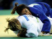 <p>Giulia Quintavalle durante l'incontro di oggi. REUTERS/Dylan Martinez (CHINA)</p>