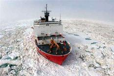 <p>The U.S. Coast Guard Cutter Healy in an undated photo. The cutter will embark on an Arctic voyage this week to determine the extent of the continental shelf north of Alaska and map the ocean floor, data that could be used for oil and natural gas exploration. REUTERS/Handout</p>