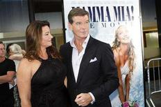 "<p>Actor Pierce Brosnan (R) and his wife Keely Shaye-Smith arrive for the premiere of the film ""Mamma Mia!"" in New York, July 16, 2008. REUTERS/Keith Bedford</p>"