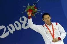 <p>Kosuke Kitajima, do Japão, comemora medalha de ouro conquistada nos 200m peito dos Jogos de Pequim, nesta quinta-feira. Photo by Kai Pfaffenbach</p>