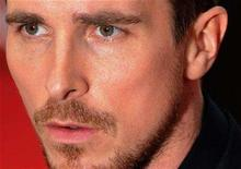 "<p>British actor Christian Bale arrives for the European premiere of ""The Dark Knight"" in Leicester Square in central London July 21 2008. REUTERS/Toby Melville</p>"