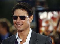 """<p>Cast member Tom Cruise poses at the premiere of """"Tropic Thunder"""" at the Mann's Village theatre in Westwood, California August 11, 2008. The movie opens in the U.S. on August 13. REUTERS/Mario Anzuoni</p>"""