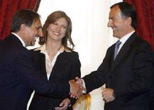<p>Il ministro dell'Istruzione Maria Stella Gelmini assieme ai colleghi della Difesa e degli Esteri. REUTERS/Dario Pignatelli</p>