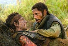"<p>Ben Stiller and Robert Downey Jr. in a scene from ""Tropic Thunder"" in an image courtesy of DreamWorks Pictures. REUTERS/Handout</p>"