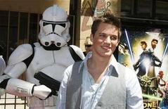 """<p>Matt Lanter poses at the U.S. premiere of the new animated film """"Star Wars: The Clone Wars"""" in Hollywood, California August 10, 2008. REUTERS/Fred Prouser</p>"""