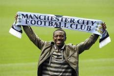 <p>Il calciatore del Manchester City Shaun Wright-Phillips. REUTERS/Nigel Roddis (Gran Bretagna).</p>