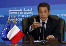 <p>Sarkozy alerta Irã para risco de ataque israelense. O presidente da França, Nicolas Sarkozy, alertou na quinta-feira o Irã sobre o risco de um ataque israelense caso a República Islâmica insista em desenvolver armas nucleares. 4 de setembro. Photo by Jamal Saidi</p>