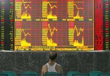 <p>Dopo i cali di ieri le borse europee aprono una nuova giornata in ribasso, giù i titoli bancari REUTERS PICTURES</p>