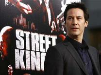 """<p>Cast member Keanu Reeves poses at the premiere of """"Street Kings"""" at the Grauman's Chinese theatre in Hollywood, California April 3, 2008. The movie opens in the U.S. on April 11. REUTERS/Mario Anzuoni</p>"""