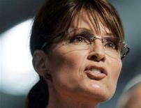 <p>Republican vice presidential candidate Alaska Governor Sarah Palin, speaks during a rally in Lancaster, Pennsylvania, September 9, 2008. REUTERS/Tim Shaffer</p>