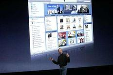 """<p>Apple Inc CEO Steve Jobs discusses his company's """"iTunes"""" product at Apple's """"Let's Rock"""" media event in San Francisco, California September 9, 2008. REUTERS/Robert Galbraith</p>"""