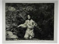<p>Una obra del pintor español Francisco de Goya, que forma parte de una serie de 82 grabados de la colección 'Desastres de la guerra', fue hurtada de un museo de la capital colombiana, informaron el viernes los responsables de la exposición. El grabado titulado 'Tristes presentimientos de lo que ha de acontecer' corresponde a la primera edición publicada en 1863 por la Real Academia de Bellas Artes de San Fernando de Madrid y es el primero de la serie que se expone en Bogotá. Photo by John Vizcaino/Reuters</p>