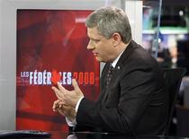 <p>Conservative leader and Canada's Prime Minister Stephen Harper takes part in a television interview in Montreal October 6, 2008. Canadians will head to the polls in a federal election October 14. REUTERS/Chris Wattie</p>