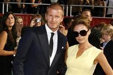 <p>David Beckham and his wife Victoria arrive at the 2008 ESPY Awards in Los Angeles, California July 16, 2008. REUTERS/Danny Moloshok</p>