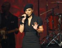<p>Singer Janet Jackson speaks on stage at the 8th annual BMI Urban Awards at the Wilshire theatre in Beverly Hills, California September 4, 2008. REUTERS/Mario Anzuoni</p>