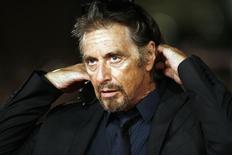 """<p>Al Pacino gestures on the red carpet as he arrives for his movie """"Chinese Coffee"""" at Rome's Film Festival October 22, 2008. REUTERS/Dario Pignatelli</p>"""