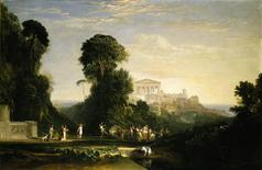 "<p>J.M.W Turner's ""The Temple of Jupiter Panellenius"" is seen in this undated photo made available in London October 24, 2008. REUTERS/Sotheby's/Handout</p>"