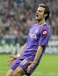 <p>Alberto Gilardino, attaccante della Fiorentina, Monaco, 21 ottobre 2008. REUTERS/Michael Dalder</p>