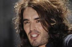 <p>Host Russell Brand is interviewed during a news conference previewing the 2008 MTV Video Music Awards in Hollywood, September 4, 2008. REUTERS/Phil McCarten</p>