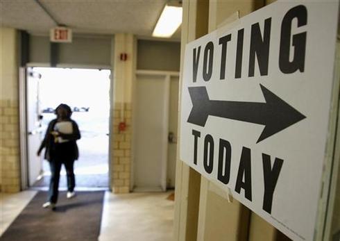 Long lines, big votes
